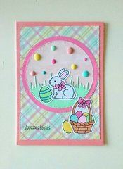 This card was created using the Lawn Fawn - Eggstra Special Easter Stamps and Dies. Available now at Scrapbook.com. #easter
