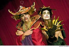"""Russell Blackwood as Mother Fu and Rumi Missabu as Madame Gin Sling in """"Pearls Over Shanghai"""""""