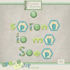 Spring in my Step Alphas - $2.50 : Digital Scrapbooking Studio
