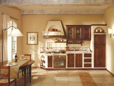 Built-in Country Kitchen Simple House Design, Concrete Wood, Wooden Kitchen, Country Kitchen, Kitchen Storage, Home Kitchens, Diy Furniture, Kitchen Design, Kitchen Cabinets