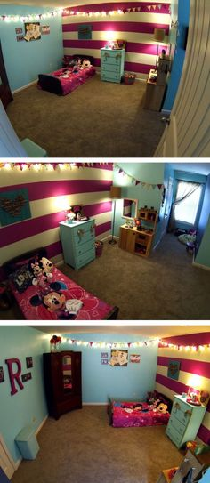 Beautiful Minnie Mouse bedroom! Inspiration for my babygirl's Minnie Room!