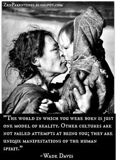 Education: An illustration that each culture is unique and individual.  Just because one culture is different from another does not leave room for inferiority or superiority.