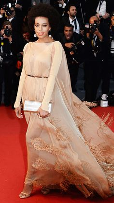 The Cannes Film Festival's Most Memorable Looks - Solange Knowles in Stephane Rolland Couture, 2013 from #InStyle