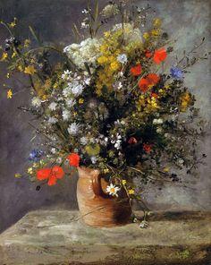 Цветы в вазе Пьера-Огюста Ренуара