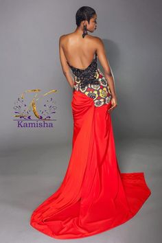 Its African inspired. African Print Dresses, African Dresses For Women, African Attire, African Wear, African Women, African Prints, African Style, African Inspired Fashion, African Print Fashion