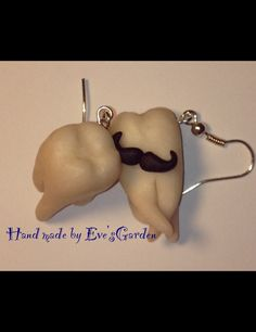 Polymer clay teeth earrings