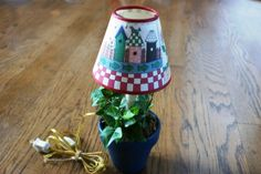 Cat Lampshade Flowerpot Lamp. Starting at $10 on Tophatter.com!