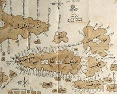 A map of Southeast Asia made by the Sultanate of Aceh in 1850. It was sent to the Ottoman Sultan in Istanbul to strengthen ties between the two empires, particularly in the face of the Dutch invasion of Southeast Asia.
