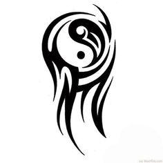 Tribal Small Yin Yang Tattoo Ink Art ❥❥❥ http://bestpickr.com/yin-yang-tattoos