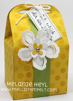 Leckereien Box mit Blume | Stampin' UP! , Stampin' UP! Demonstratorin, Stampin' UP! Melanie Heyl