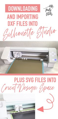 How to Download and Import DXF Files into Silhouette Studio Silhouette Cameo Tutorials, Silhouette Projects, Silhouette Design Studio, Types Of Craft, Making Shirts, What To Make, Wooden Diy, Filing, Adhesive Vinyl