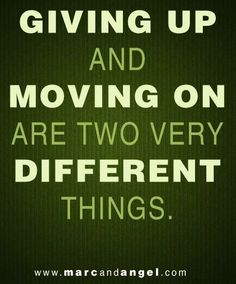 Moving on quote via www.MarcandAngel.com