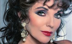 eye makeup 1980 joan collins - Google Search
