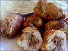 Le pellegrine Artusi: Cosce di pollo ripiene con salsa al marsala