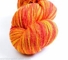 #Kauni Wool Yarn Color EU SelfStriping Yarn Flame Red by Kauni, $23.70 #etsy #knitting