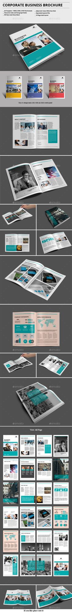 Corporate A Brochure Template  Brochure Template Brochures And