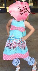 Fleur L Enfant fleurlenfant fleur l'enfant GIDGET Pink FLAMINGO  Dress Sz 5 USA