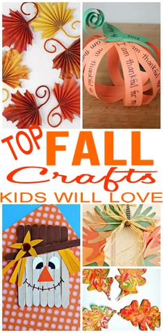 14 DIY Fall Crafts For KidsBEST kids FALL craft projects! EASY and FUN DIY craft ideas for the Fall season kids will love. Learn how to make Fall slime, scarecrow crafts, leaf crafts, thankful crafts Arts And Crafts Movement, Fall Arts And Crafts, Arts And Crafts For Adults, Easy Fall Crafts, Fun Diy Crafts, Fall Crafts For Kids, Kids Crafts, Kids Diy, Fall Crafts For Preschoolers