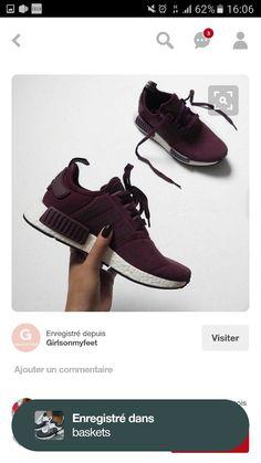 buy popular 9cc1e 3f123 love these burgundy adidas NMD s.