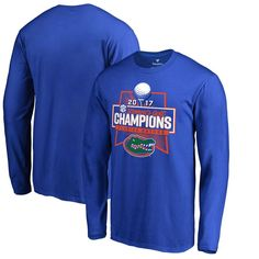 Florida Gators Fanatics Branded 2017 SEC Women's Golf Conference Champions Long Sleeve T-Shirt - Royal