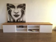 DIY: Ikea hack, tv meubel pimpen met steigerhout