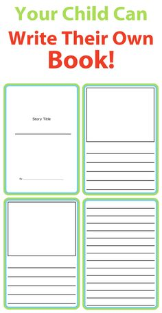 These printable story templates let kids use their imaginations to write stories and draw pictures. Easily create a little book for your budding author!