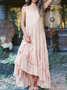 Boho Chic Casual Short Sleeve A Shape White Cotton Raw Frill Applique Boho Dress With Dip Dyed Gray Hem /& 2 Pockets