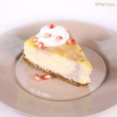 Carla Hall's #Pomegranate Swirl #Cheesecake! #TheChew #Dessert