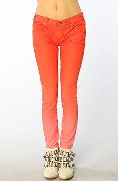 Free People The Ombre Cropped Skinny Jean in Red Fire : MissKL.com - Cutting Edge Women's Fashion, Accessories and Shoes.