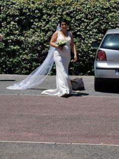 Robe de mariée sirène de chez Mariage en Rose, mariage du 30 mai 2020.