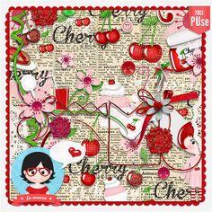 Kit - Cherry by Fa Maura [FaMaura_Kit_Cherry] - R$16.18 : famaura.com - scrapshop