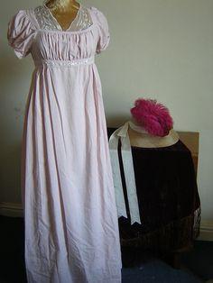 Regency Dress in shell pink linen - NOW on SALE. $100.00 USD, via Etsy.