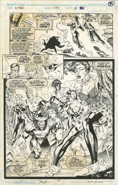 UNCANNY X-MEN #274 PAGE 25 SPLASH ( 1991, JIM LEE AND SCOTT WILLIAMS ) Comic Art