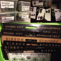 Finally sorting through Eric's Binson Echorec spares - think we're sorted for a decade or two now...