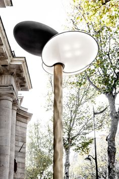Clover furniture by Mathieu Lehanneur features a cluster of petal-shaped lamps