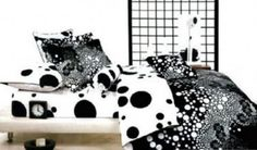 Black and white Polka Dot Comforter Set