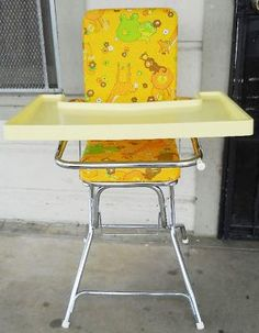 1980 Strolee high chair. Vintage High Chairs, Baby Equipment, Baby Fabric, Baby Carriage, Playpen, Ol Days, Good Ol, Baby Kids, Baby Baby