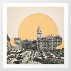 A Hug for Edinburgh Art Print by Zeke Tucker - $15.60