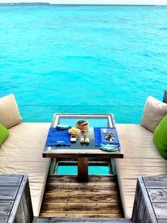 Lovely breakfast at Six Senses Laamu, Maldives