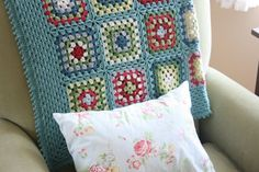 crochet afghan color inspiration | Color Inspiration :: Cath Kidston inspired blanket, by Cottage 1945 ...