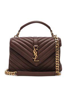 Saint Laurent Medium Monogramme College Bag in Old Brandy  24fb9abf34fd5