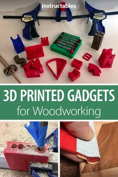 Check out this set of printed gadgets and tools designed in Fusion 360 for your woodworking projects. # printer projects printing More Printed Gadgets for Woodworking Woodworking Projects For Kids, Woodworking Hand Tools, Woodworking Shop, Woodworking Plans, Woodworking Crafts, Woodworking Gadgets, Carpentry Tools, Woodworking Techniques, Woodworking Furniture