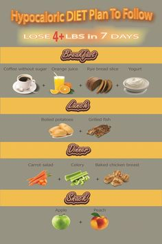 Hypocaloric Meal Plan To Loose Weight