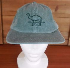 Vintage Green Denim Camel Cigarettes Logo Trucker Hat Cap #Camel #Trucker