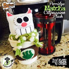 Purridge Matcha the Catpuccino Plush by Furry Feline Creatives!