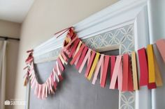 This paper banner is a perfect last minute decoration you can make with scrap paper.