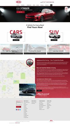 Best Promotional design for car dealers. Get Inspired Today! Web Design Inspiration, Creative Inspiration, Car Websites, Kia Stinger, Car Dealers, Promotional Design, Certified Pre Owned, Surrey, Behance
