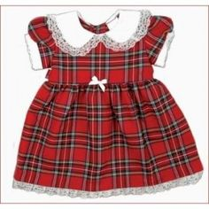 Girl's Royal Stewart Tartan Dress with frill collar and petticoat available in sizes 6 months to 4 years. Fab for the Christmas Party. . . Sold by TartanPlusTweed.com A family owned kilt and gift shop in the Scottish Borders