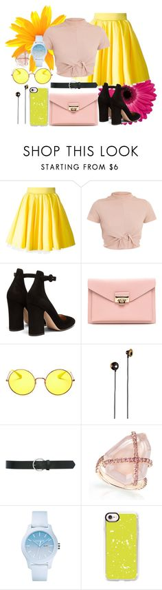 """""""Worlds change when eyes meet"""" by twenty21st ❤ liked on Polyvore featuring Philipp Plein, Gianvito Rossi, Ray-Ban, Merkury, M&Co, Lacoste and Casetify"""