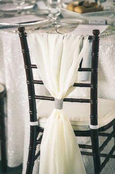 Wedding Chair Sashes, Wedding Chair Decorations, Wedding Sash, Wedding Chairs, Wedding Reception, Decor Wedding, Wedding Ideas, Wedding Rentals, Fall Wedding